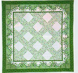 Emerald Spring Quilt Pattern Pieced Applique