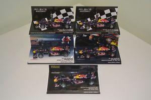 5X 1 43 Minichamps Sebastian Vettel Red Bull Racing 2010 2011 Suzuka Legend F1