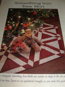 Quilt Magazine Pattern Christmas Smoothing Iron Tree Skirt Quilt Pattern