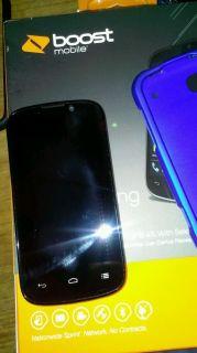 ZTE Warp Sequent 4GB Black Boost Mobile Smartphone