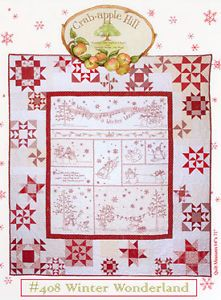 Crabapple Hill Patterns Winter Wonderland Quilt Pattern 408 Free US Shipping