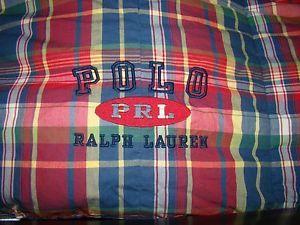 Polo Ralph Lauren Garrison Plaid Down Comforter Full Queen