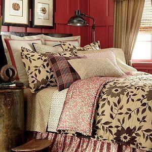 Ralph Lauren Chaps Home Coral Queen Comforter Bed Skirt