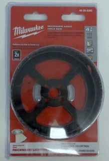 Milwaukee 49 56 0300 recessed light hole saw 4 3 8 dia mozeypictures Choice Image