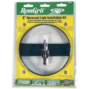 "New Remgrit 4"" Recessed Light Installation Kit GRL402 Carbide Hole Saw"