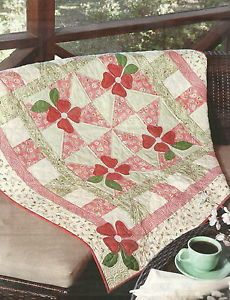 """Quilt Pattern """"Little Blossoms"""" Throw Table Topper Dash of Spring Quilt"""
