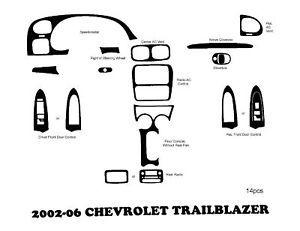2002 2006 Chevrolet Trailblazer Wood Dash Kit Trim Wood Grain Dash Outlet