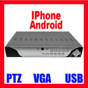 8 Channel Standalone CCTV H 264 DVR Security Camera System Recorder No HDD