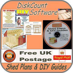 Over 180 DIY eBooks Plans for Sheds Greenhouses Garden Furniture Decking