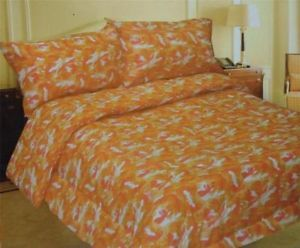 Orange Camouflage Twin Sheet Set Orange Camo Sheets Deep Pocket Camo Sheets
