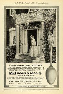 1912 Ad 1847 Rogers Bros Silver Plate Colony Pattern Silverware Meriden Conn