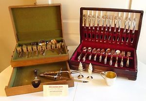 Huge Set of 1847 Rogers Brothers Silver Plated Flatware
