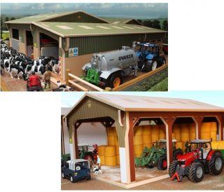 Brushwood Toys Model Farm Buildings Wooden 1 32 Scale Farmyard Sheds Barns
