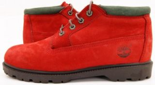 Timberland Women's Waterproof Nellie Chukka Ruby Red Nubuck Boots Shoes 9 5M