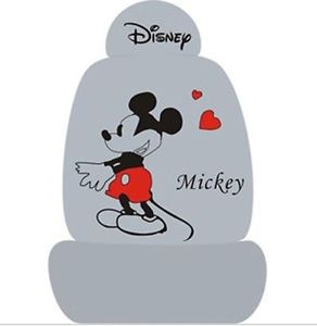 Disney Mickey Mouse Heart Car Seat Cover for The Five Seat Car Use Gray