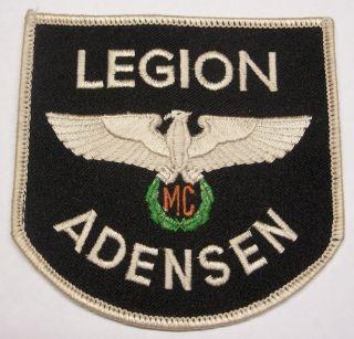 Motorcycle Club Cloth Patch 'Legion Adensen MC'