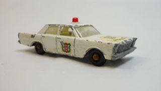 Matchbox Lesney Ford Galaxie Police Car No 55 59 Vintage 1966