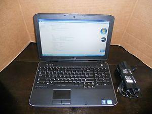 """Dell Latitude E5530 15"""" Laptop Core i5 3340M 2 7GHz 8GB RAM 320GB HDD Win7 64bit"""