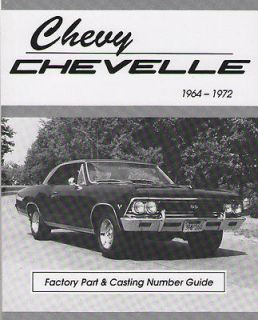 Chevelle 64 65 66 67 68 69 70 71 72 Casting Number Engine Code Book