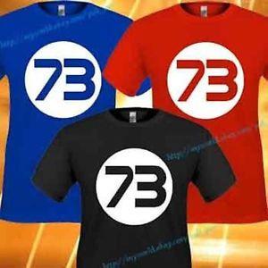 The Big Bang Theory Sheldon Cooper Number 73 Bazinga Logo Symbol TV Tee T Shirt