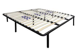 New Metal Platform Bed Frame with Wood Slats in Twin Full Queen King and CA King