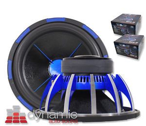 "2 Power Acoustik® MOFO 152X Car Audio 15"" Subwoofers 6 000W DVC 2 Ohm Subs New"