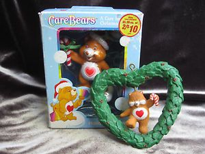 2 Tenderheart Care Bear Christmas Ornaments