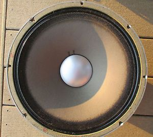 "Vintage Original '60s 15"" JBL D130F Guitar Speaker 8 Ohms Needs re Cone NR"