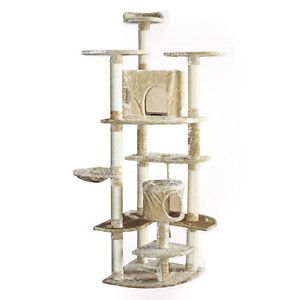 "Tall Cat Tower Tree 80"" Huge Big with Scratcher Post Condo Furniture Play House"