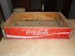 Vintage Enjoy Coca Cola Bottling Company Wooden Wood Carrier Crate L K