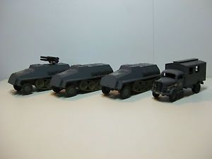 Roco Minitanks German WWII Rocket Launcher Radio Truck Troop Carriers 1 87