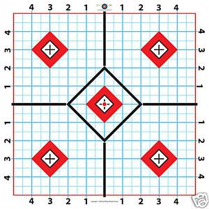 100 Yard Rifle Paper Target Great for Sighting in Scope Fast
