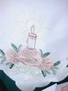 NIP Germany Fine Embroidery Christmas Table Linen