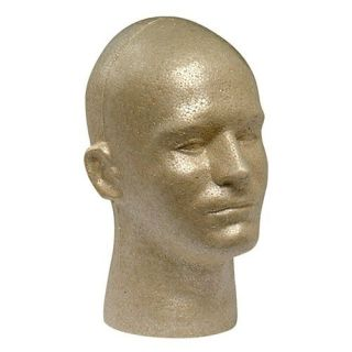 Tan Male Styrofoam Mannequin Manikin Wig Hat Headphone Display 4 Heads