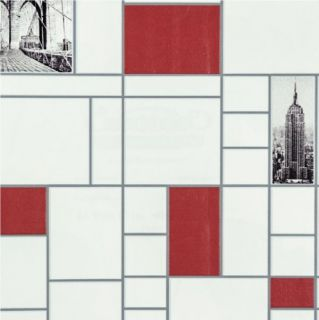 Graham Brown NYC Tile New York Postcards Washable Anti Bacterial Wallpaper