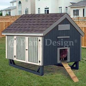 4'x6' Gable Roof Style Chicken Coop Plans 90406mg