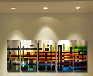 Abstract Metal Wall Art Painting Sculpture Original Art Design Modern Decor