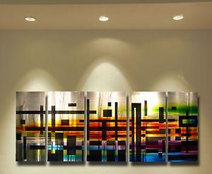 Abstract Metal Wall Art Painting Sculpture Original Art Design Modern Decor