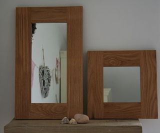 handmade oak mirror by lost and found @ mike jones furniture