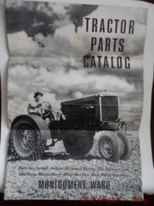 Vintage Montgomery Ward Tractor Parts and Accessories Catalog Brochure C 1940s