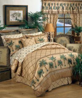 Karin Maki Kona Palm Tree Tropical Bedding Comforter Set or Bed in Bag 4 Sizes