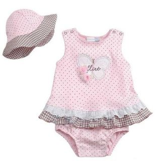 2pcs Kid Child Baby Girl Suit Bodysuit Dress Outfit Costume Cloth Clothing 0 24M