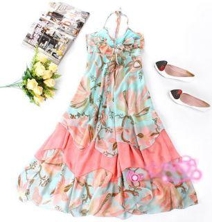HM H M Maxi Bohemian Floral Long Chiffon Gisele Dress
