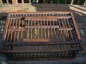 Antique Chicken Coop Crate Wood Iron w J Carpenter Company