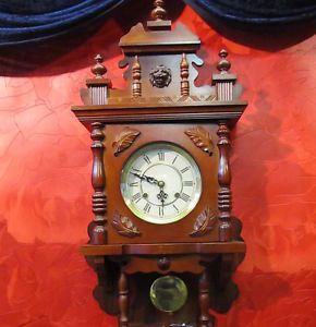 Old Wall Clock Regulator Freischwinger 31 Day Large Clock