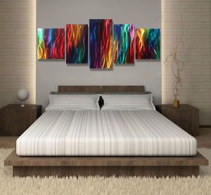 Abstract Metal Wall Art Sculpture Modern Contemporary Painting Wall Hanging Deco