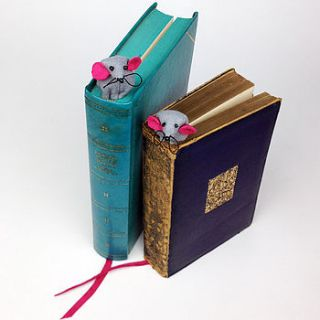 handmade mika the mouse bookmark by mirjami design