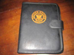 United States Navy Telephone Address Book Black Organizer 3 Ring Binder