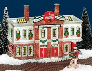 Coca Cola Bottling Plant New Department Dept 56 SV D56 Snow Village