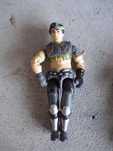 1980s Gi Joe Action Figure Green Black Hair Look